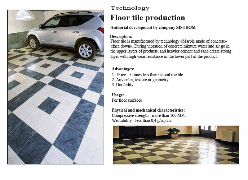 Technology Sistrom - Floor tile production