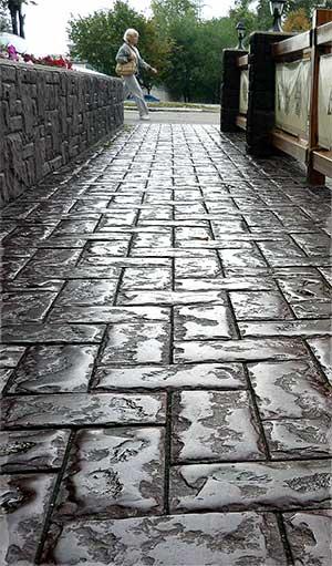 Брусчатка из бетона своими